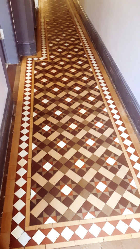 Victorian Tiled Hallway After Restoration Smethwick