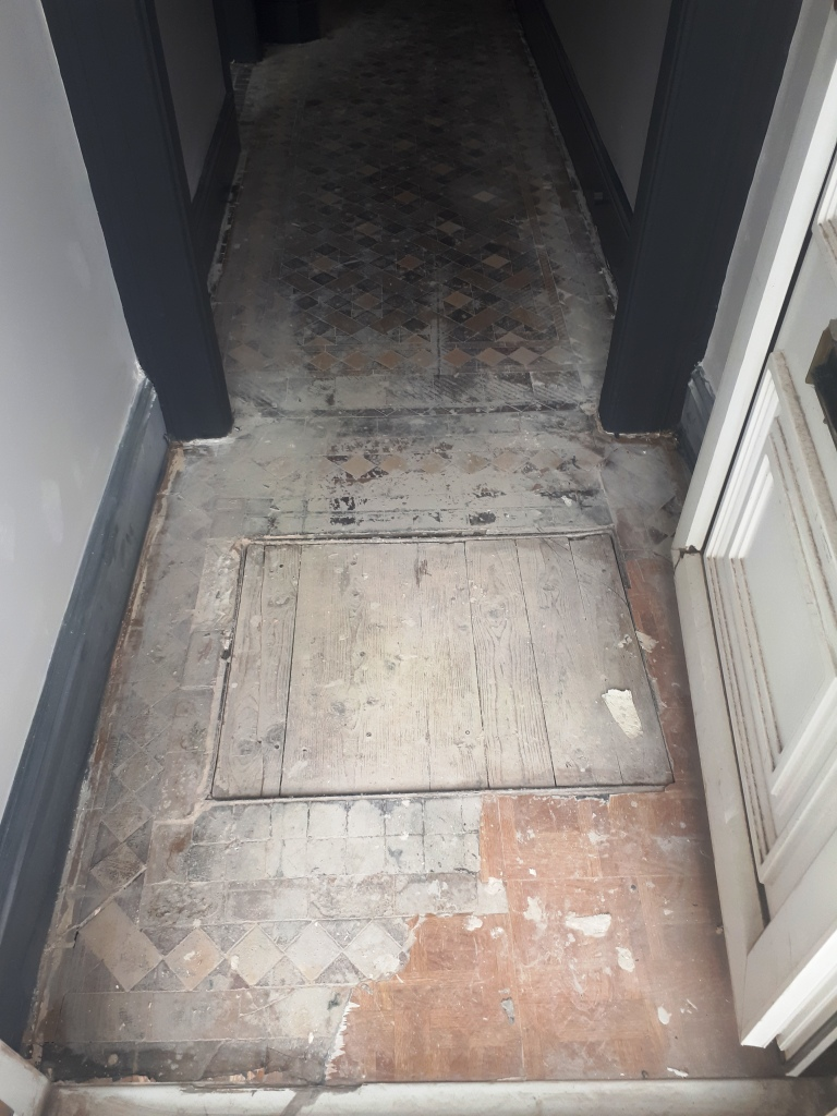 Victorian Tiled Hallway Before Restoration Smethwick