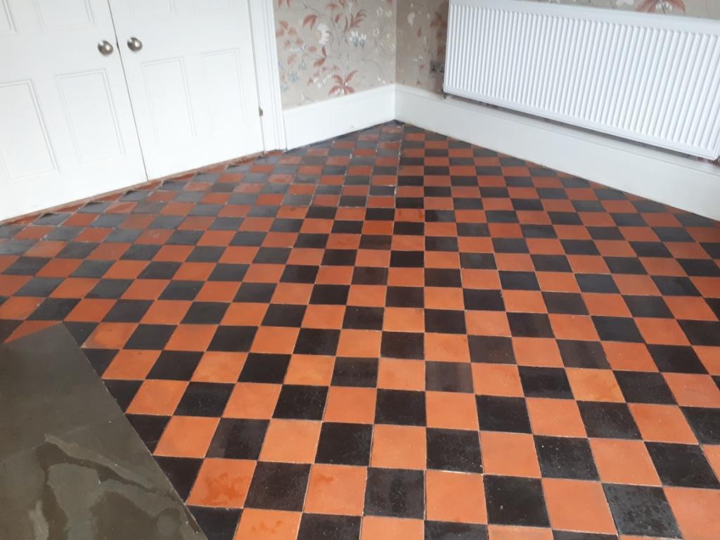 Quarry Tiled Floor After Renovation Harborne