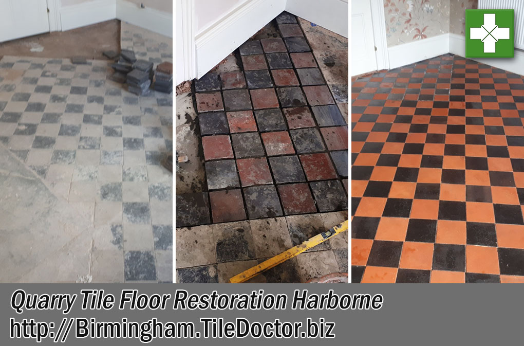 Quarry Tiled Floor Before After Restoration Harborne