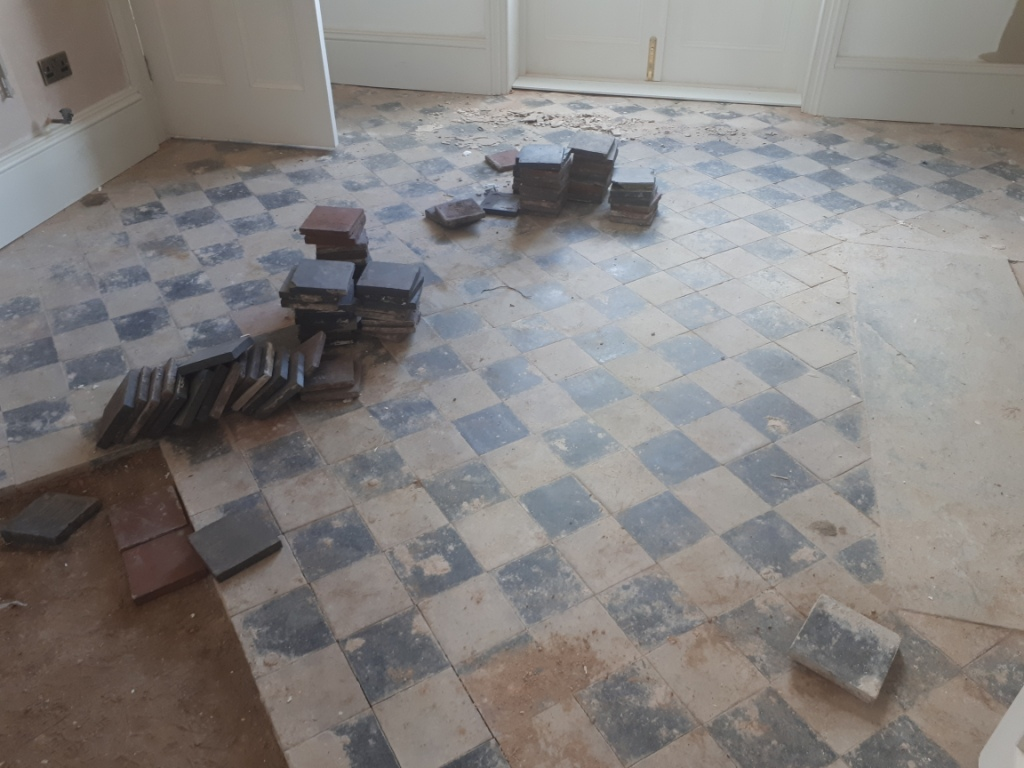 Quarry Tiled Floor Before Renovation Harborne